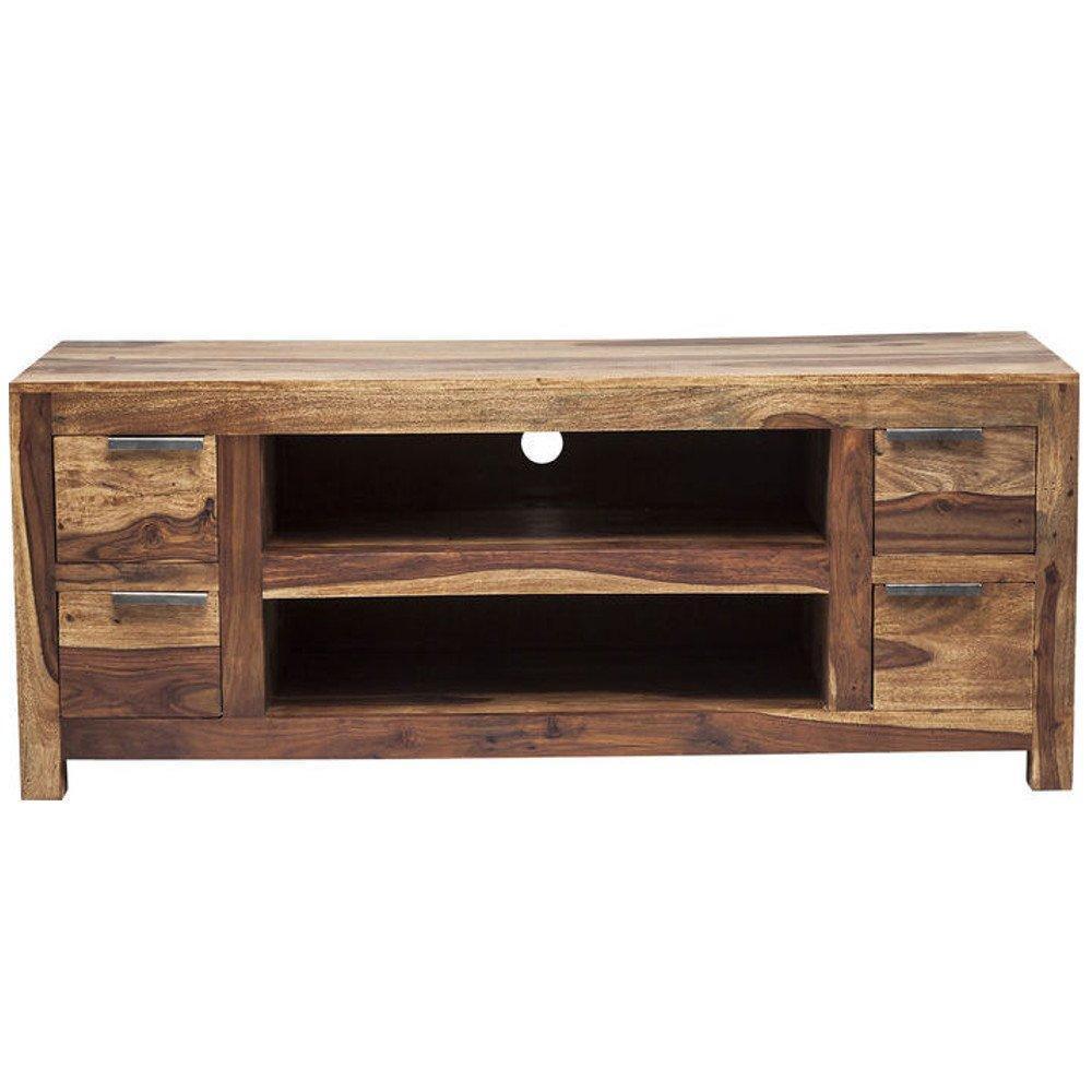 Meubles tv meubles et rangements meuble tv wood 4 for Wooden art meuble tv