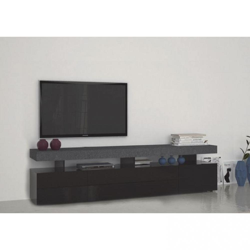 meubles tv meubles et rangements meuble tv5 design treviso effet marbre avec 4 tiroirs laqu. Black Bedroom Furniture Sets. Home Design Ideas
