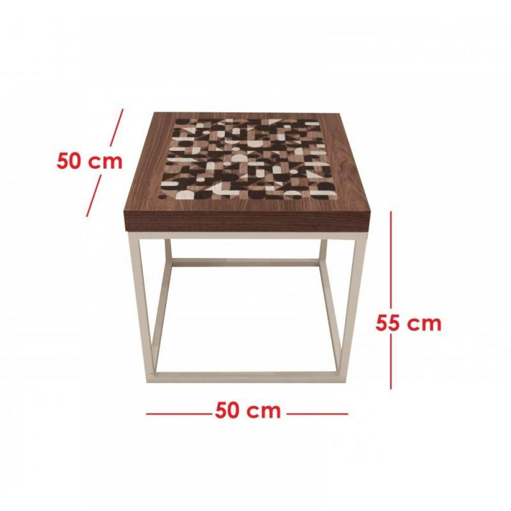chevets meubles et rangements mikado table chevet design bois noyer inside75. Black Bedroom Furniture Sets. Home Design Ideas