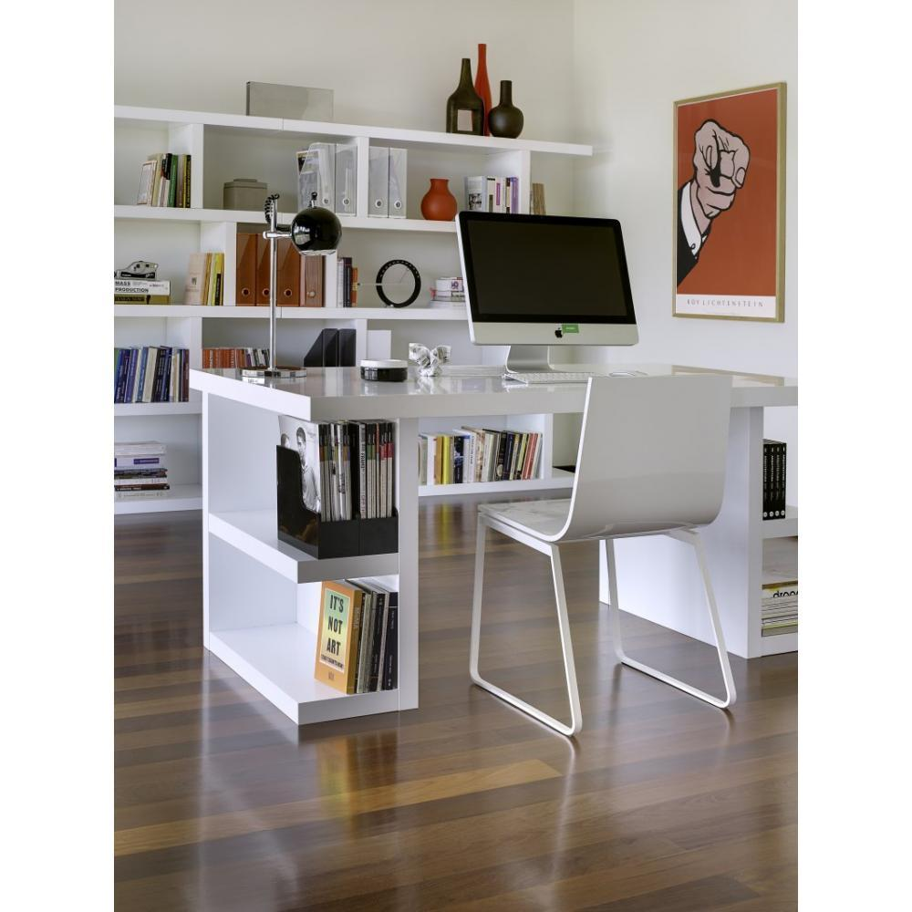 bureaux meubles et rangements bureau design multi storage 160 x 90 blanc inside75. Black Bedroom Furniture Sets. Home Design Ideas