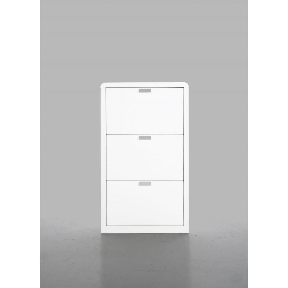 meubles chaussures meubles et rangements milki meuble chaussures laqu blanc design inside75. Black Bedroom Furniture Sets. Home Design Ideas