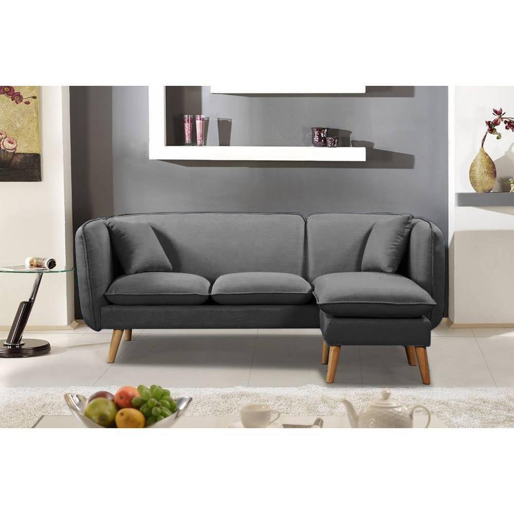 canap design style scandinave au meilleur prix canap mima 3 places plus pouf modulable en. Black Bedroom Furniture Sets. Home Design Ideas