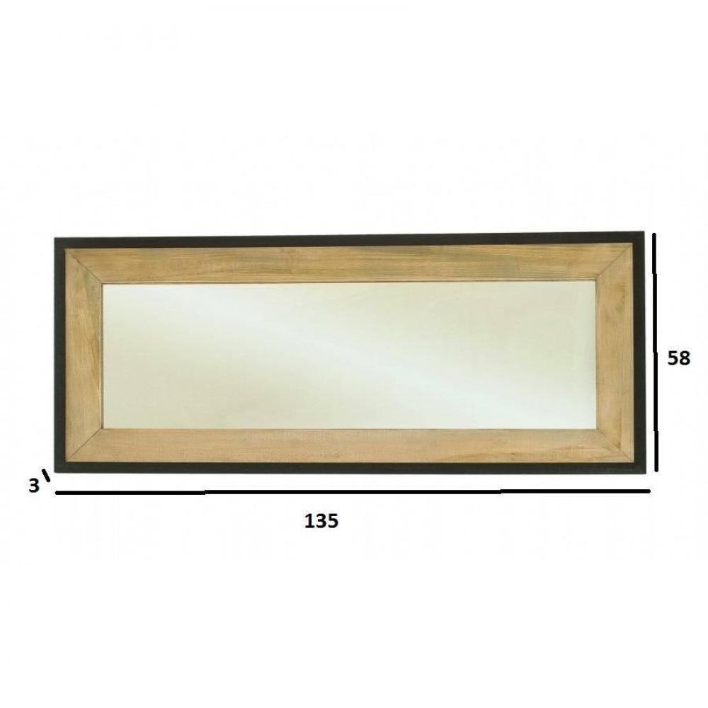 Miroirs meubles et rangements miroir rectangulaire lea for Miroir en bois rectangulaire