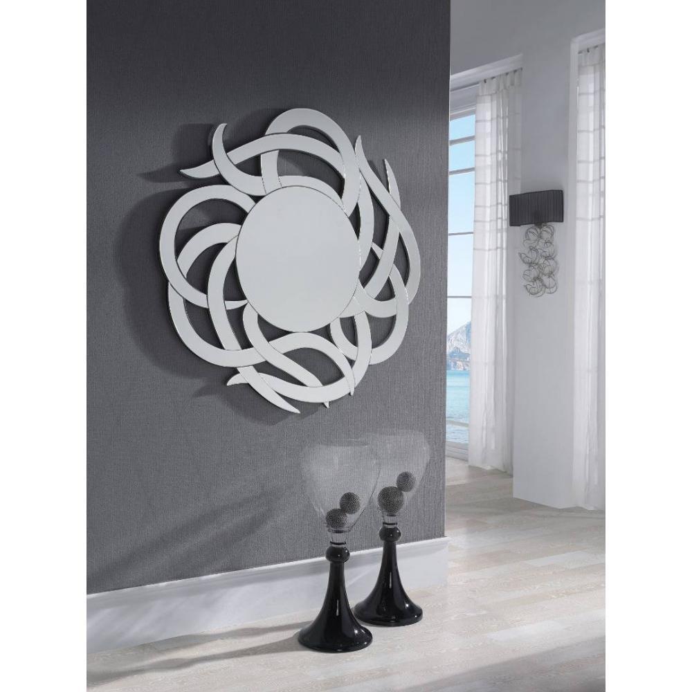 D corations luminaires soleil miroir mural design inside75 for Miroir design soleil