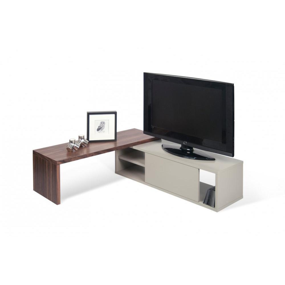 Meubles Tv Meubles Et Rangements Move Meuble Tv Modulable Noyer  # Meuble Tv En Noyer