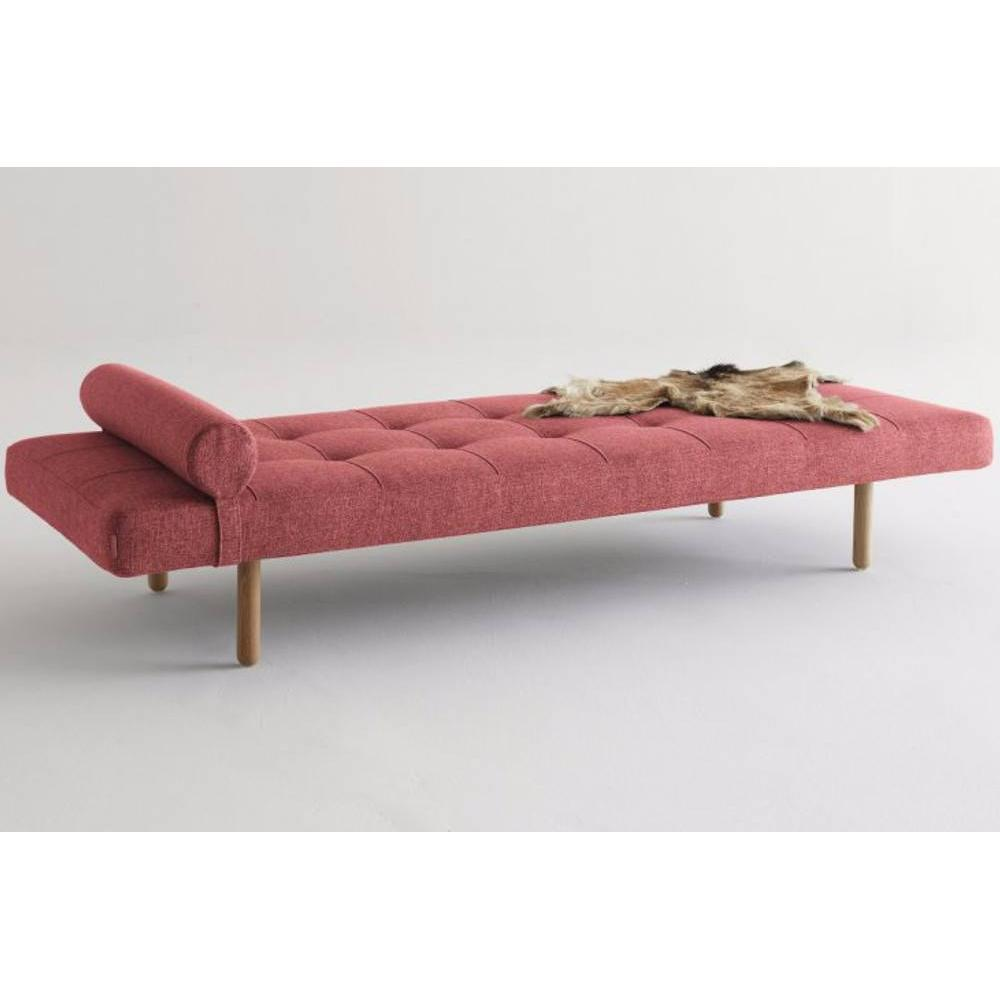 Méridienne lit DAYBED design NAPPER STEM convertible 200*80 cm piétement chêne