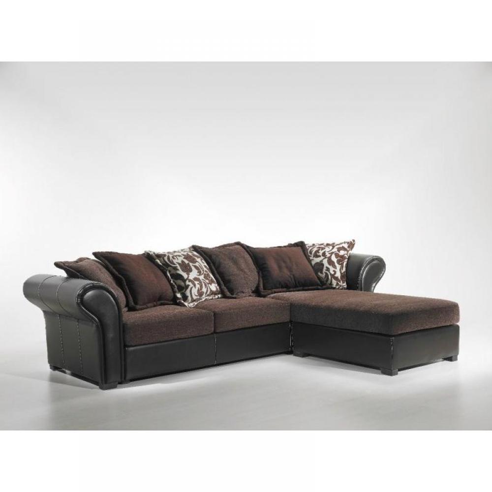 canap d 39 angle moderne et classique au meilleur prix nepal marron canap tissu et cuir inside75. Black Bedroom Furniture Sets. Home Design Ideas