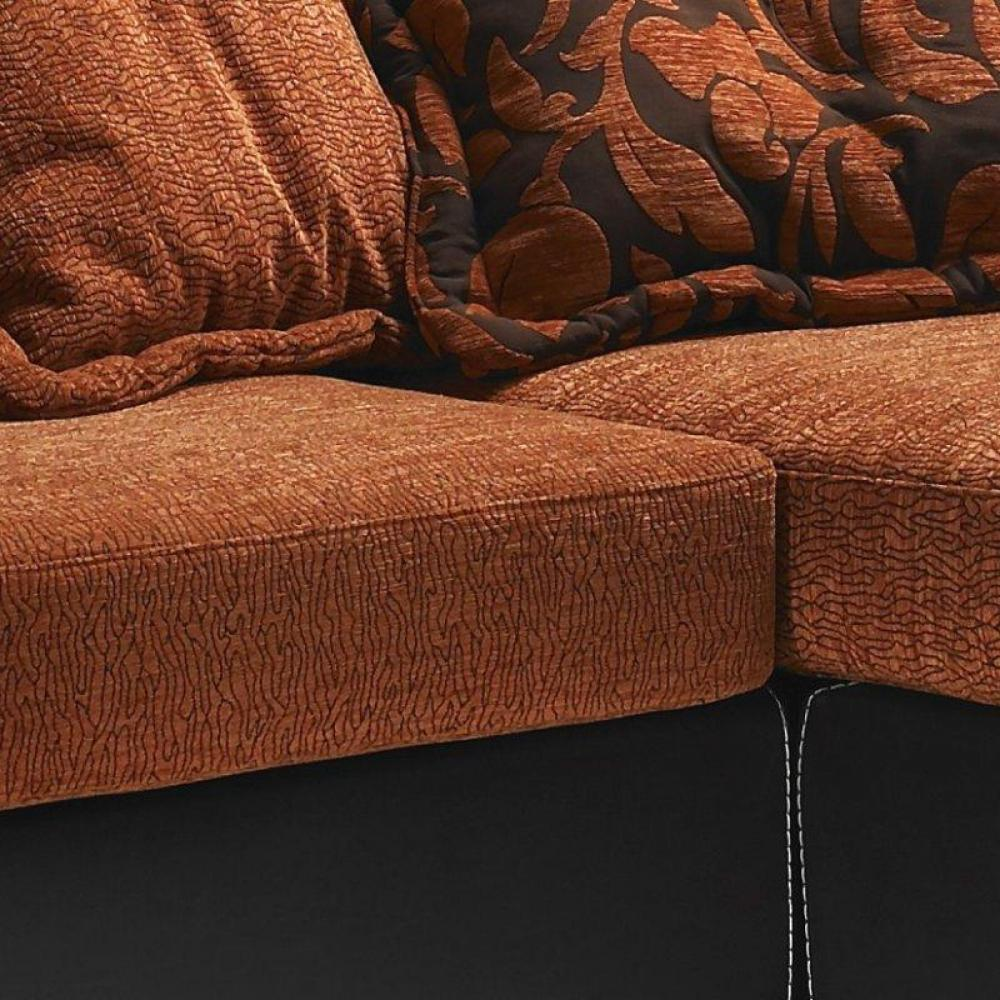 canap s convertibles ouverture rapido canap d 39 angle nepal tissu orange et cuir noir inside75. Black Bedroom Furniture Sets. Home Design Ideas