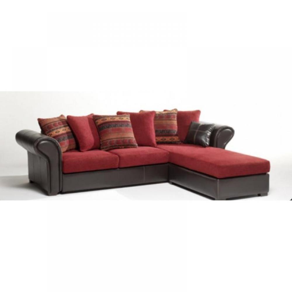 canap d angle cuir et tissu my blog. Black Bedroom Furniture Sets. Home Design Ideas