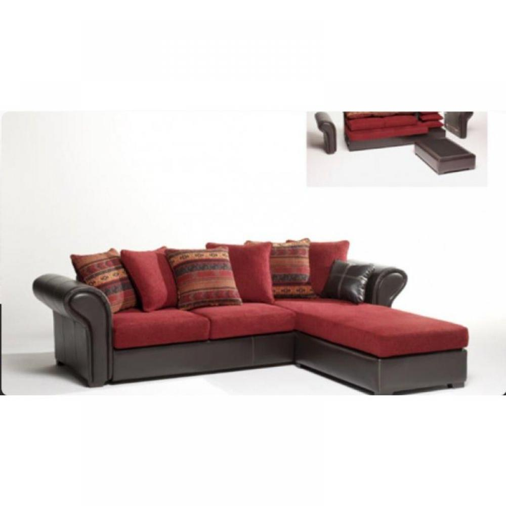 canape d 39 angle convertible cuir rouge. Black Bedroom Furniture Sets. Home Design Ideas
