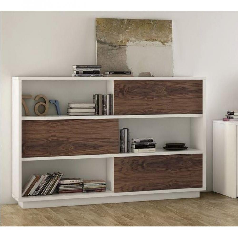 Biblioth ques tag res meubles et rangements nilo tag re avec 3 portes coulissantes inside75 - Bibliotheque porte coulissante ...