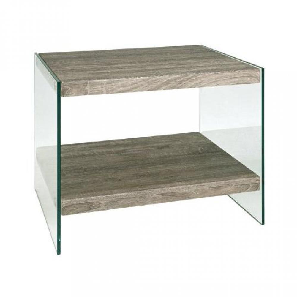 Table basse carrée, ronde ou rectangulaire au meilleur prix, Table basse NI -> Table Basse Chene Gris