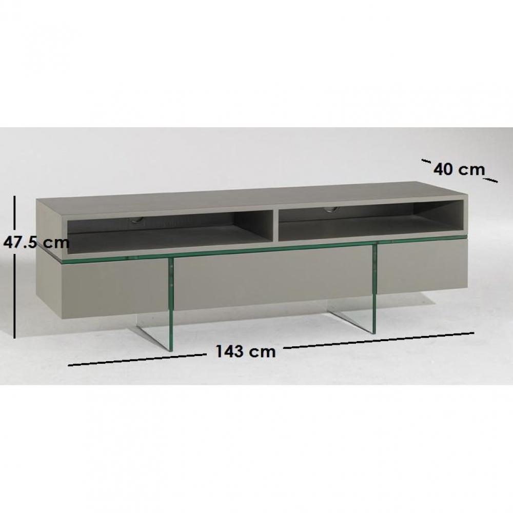 Meubles tv meubles et rangements nova meuble tv avec for Meuble tv verre et metal