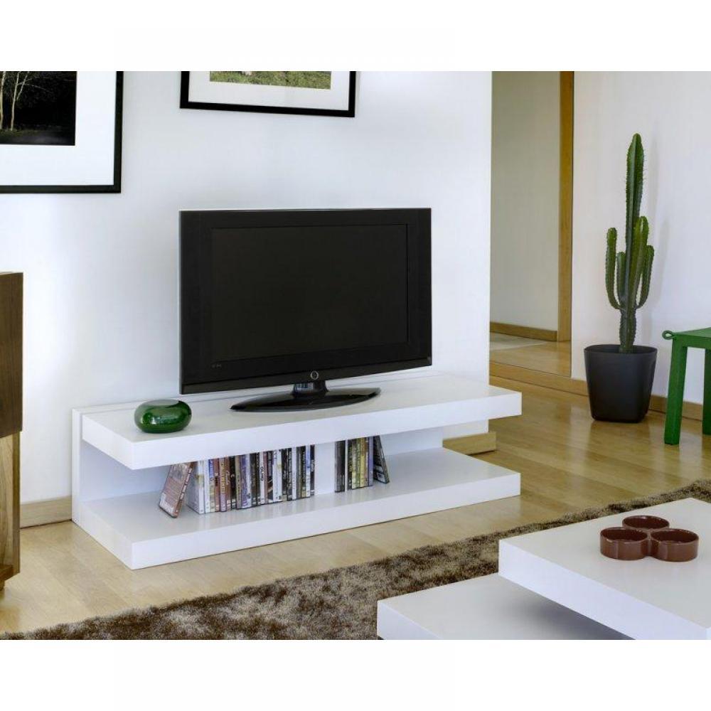 meubles tv meubles et rangements offshore meuble tv blanc mat design inside75. Black Bedroom Furniture Sets. Home Design Ideas