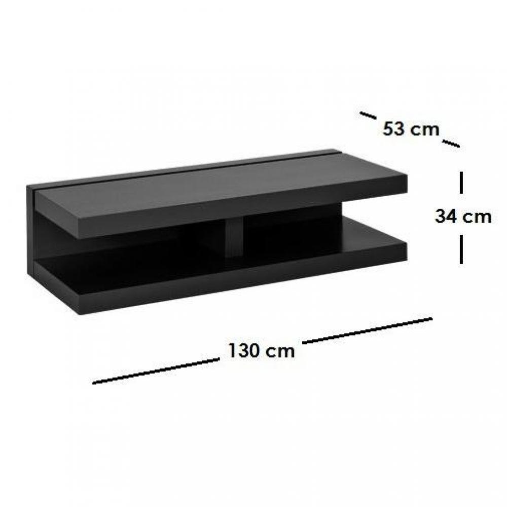 Meubles tv, meubles et rangements, OFFSHORE meuble télé noir mat design  Ins -> Meuble Téle Noir Mat