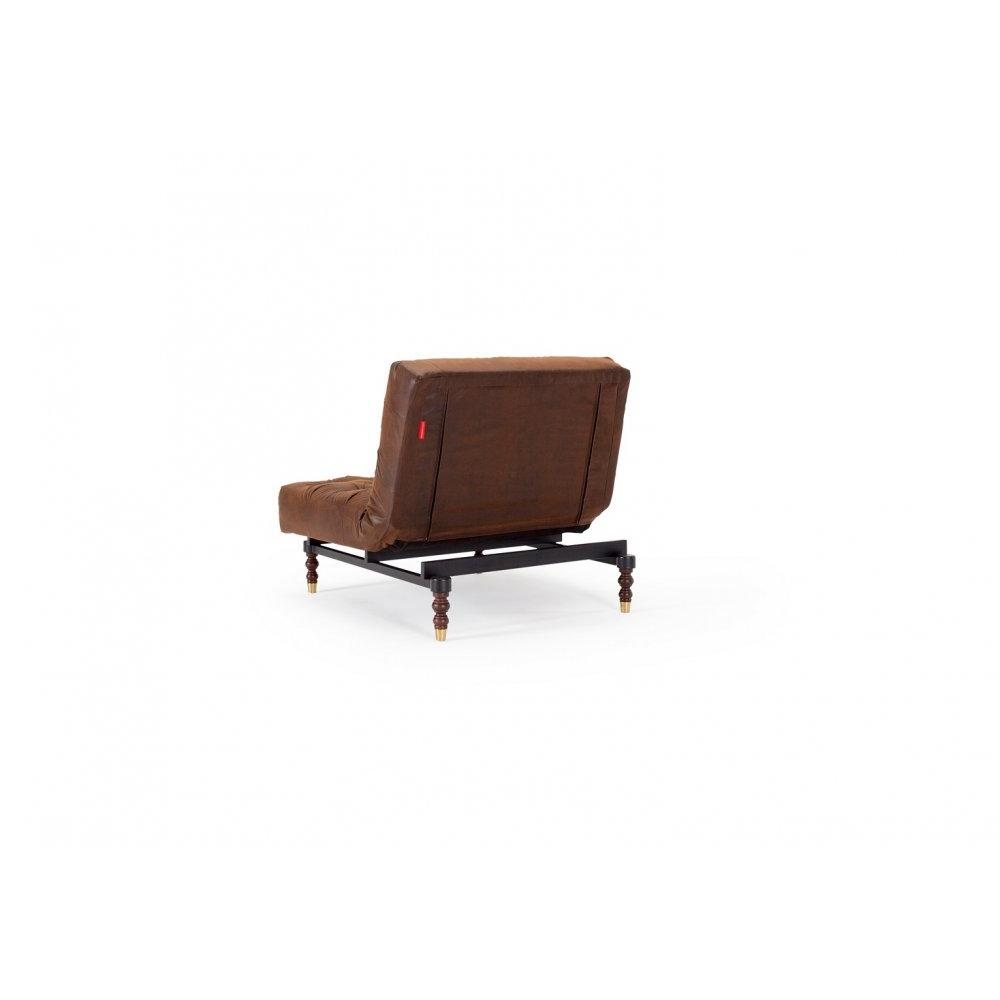 INNOVATION LIVING  Fauteuil lit design OLD SCHOOL vintage convertible 115*90 cm