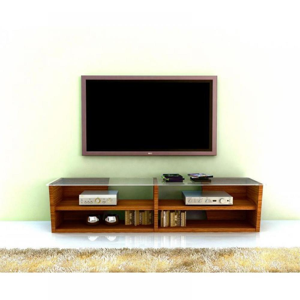 meubles tv meubles et rangements temahome oliva 170cm meuble tv noyer avec plateau en verre. Black Bedroom Furniture Sets. Home Design Ideas