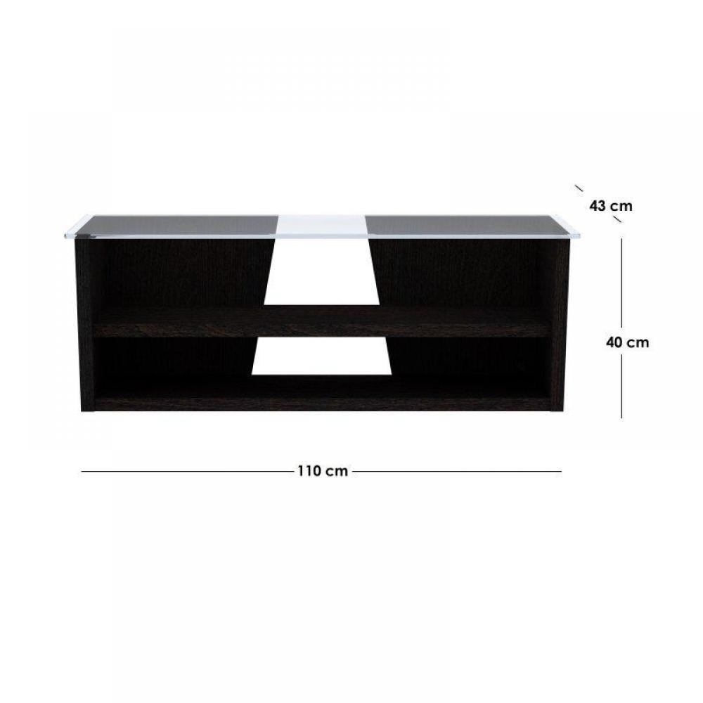 meubles tv meubles et rangements temahome oliva meuble tv weng avec plateau en verre tremp. Black Bedroom Furniture Sets. Home Design Ideas