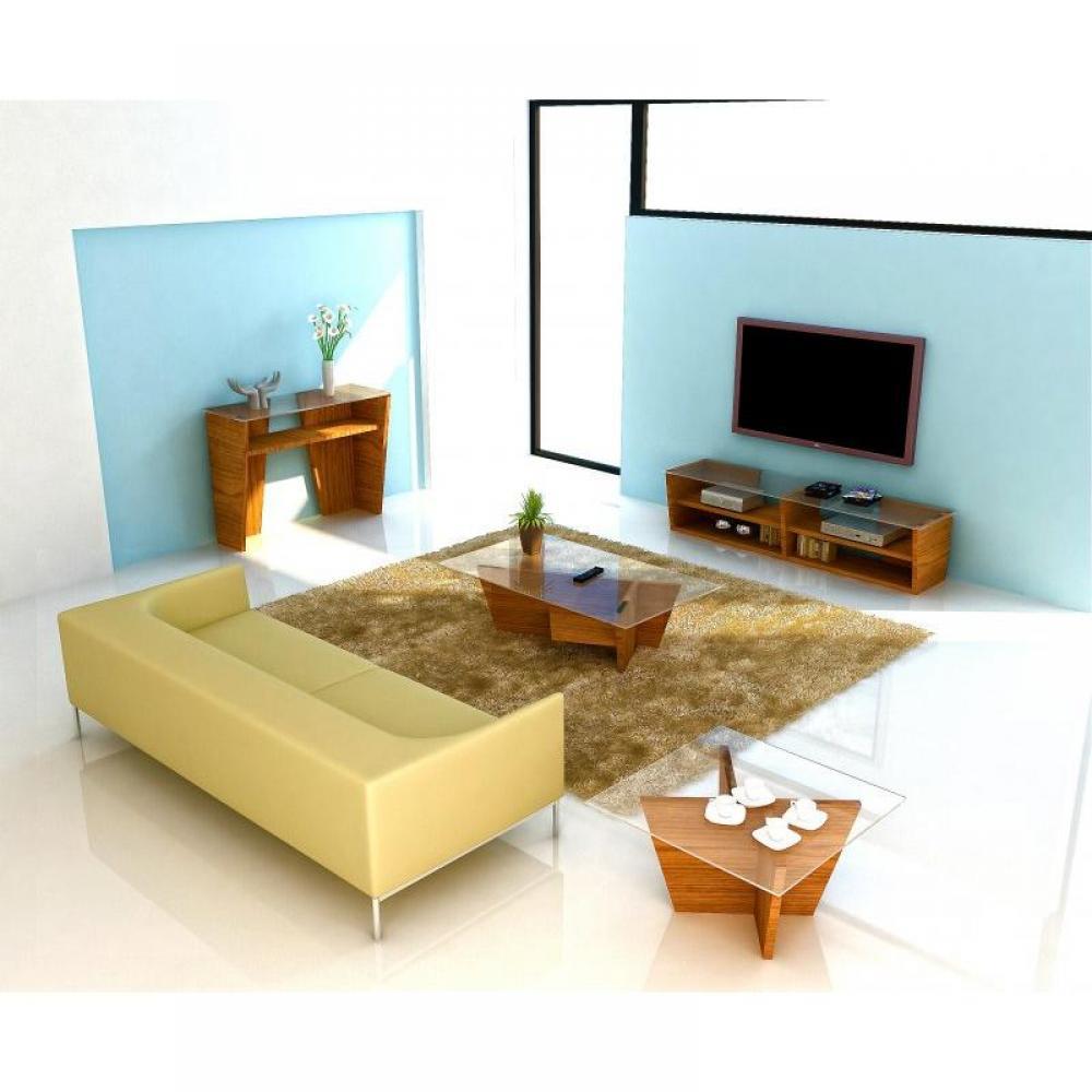 Meubles tv, meubles et rangements, TemaHome OLIVA meuble tv noyer avec platea -> Petit Meuble Tv Design