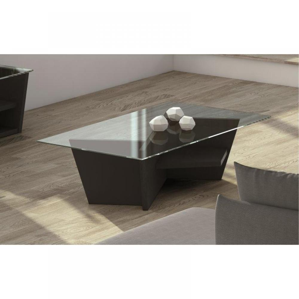 Table basse carr e ronde ou rectangulaire au meilleur prix temahome oliva table basse weng - Table basse ronde wenge ...