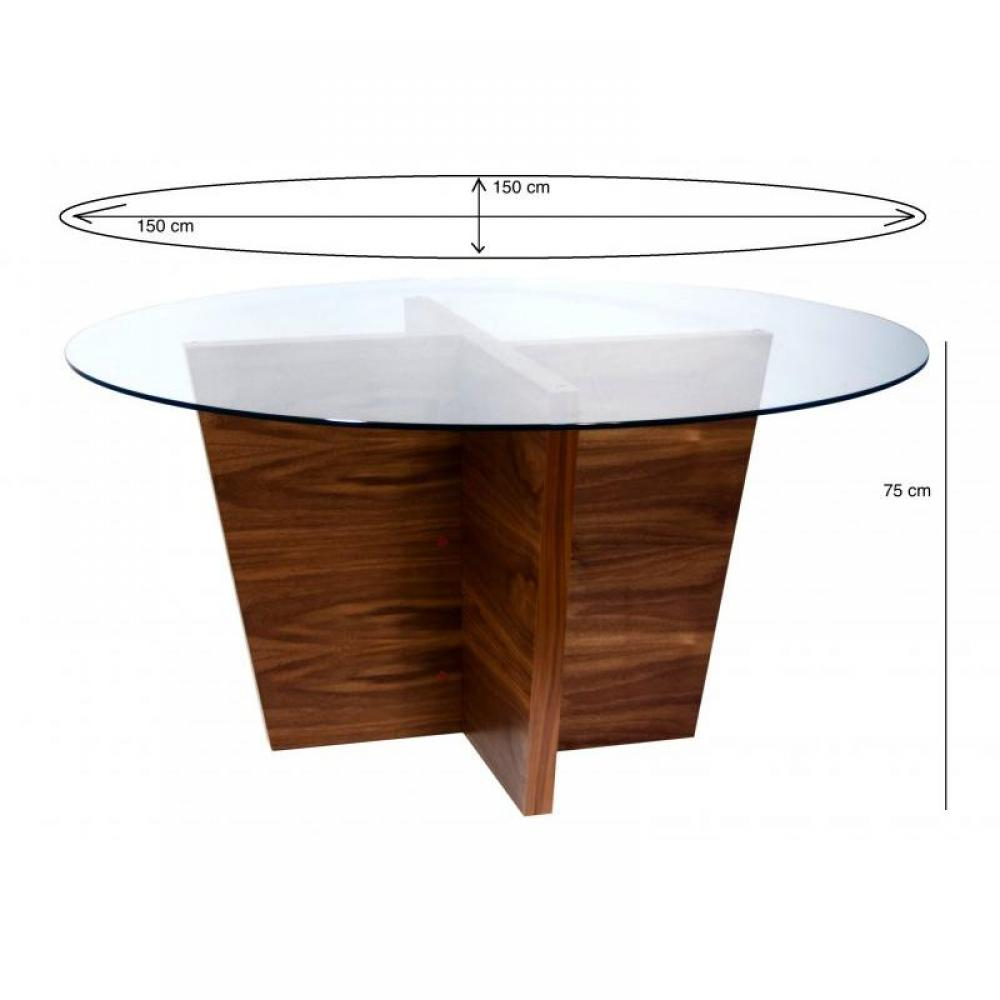 Table de repas design au meilleur prix temahome oliva for Table ronde verre design