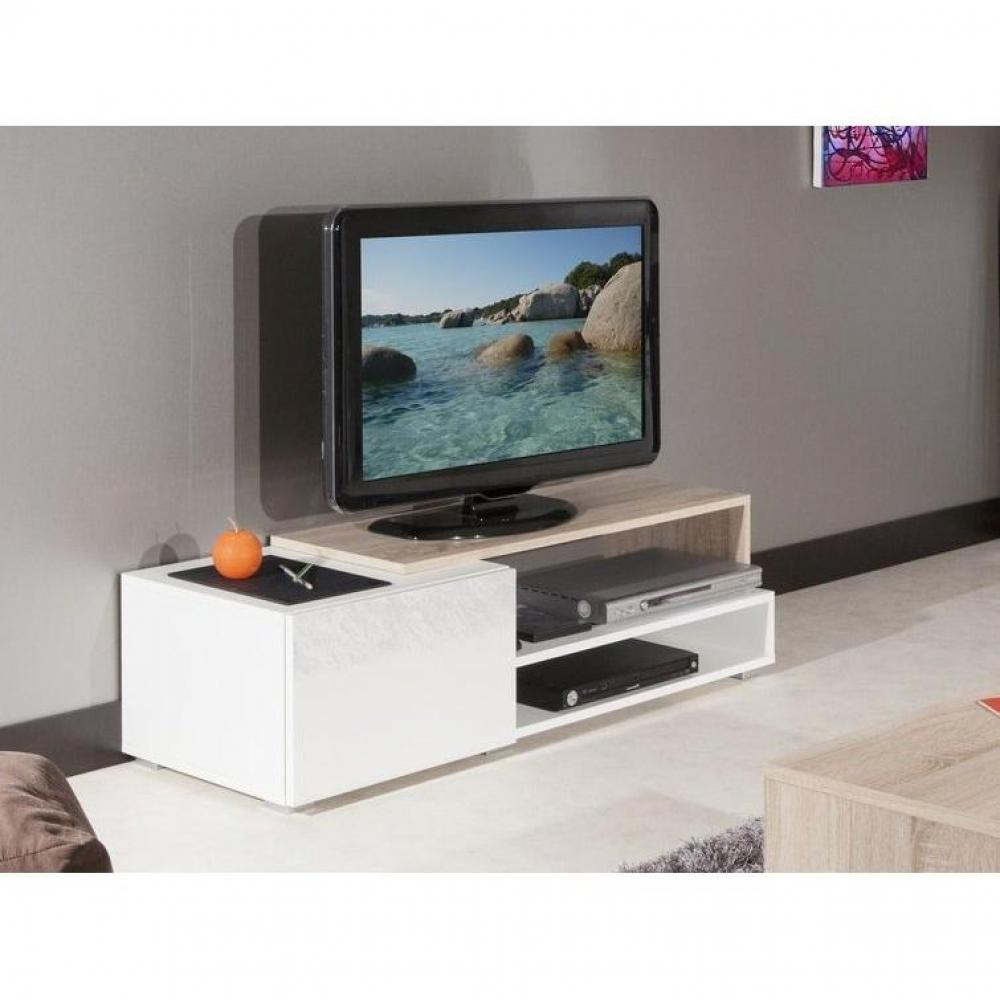 petit meuble tv blanc maison design. Black Bedroom Furniture Sets. Home Design Ideas