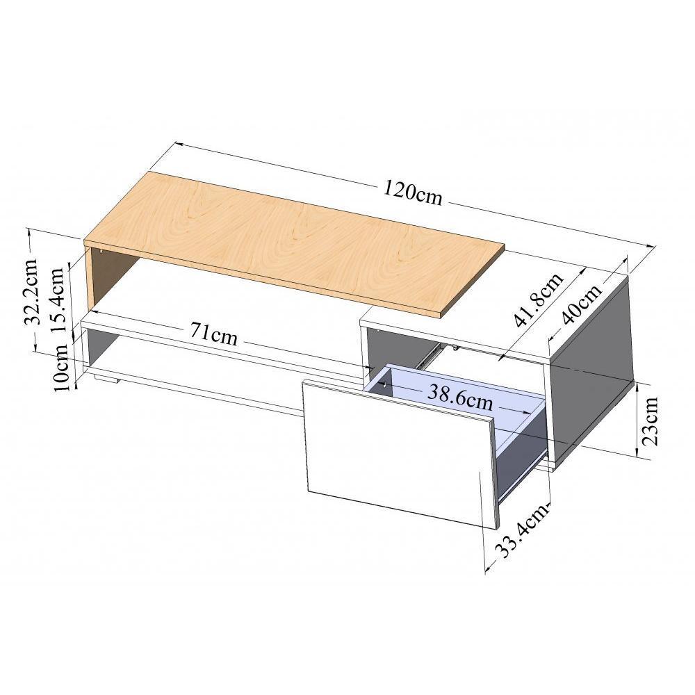Meubles tv meubles et rangements pacific meuble tv for Petit meuble blanc laque