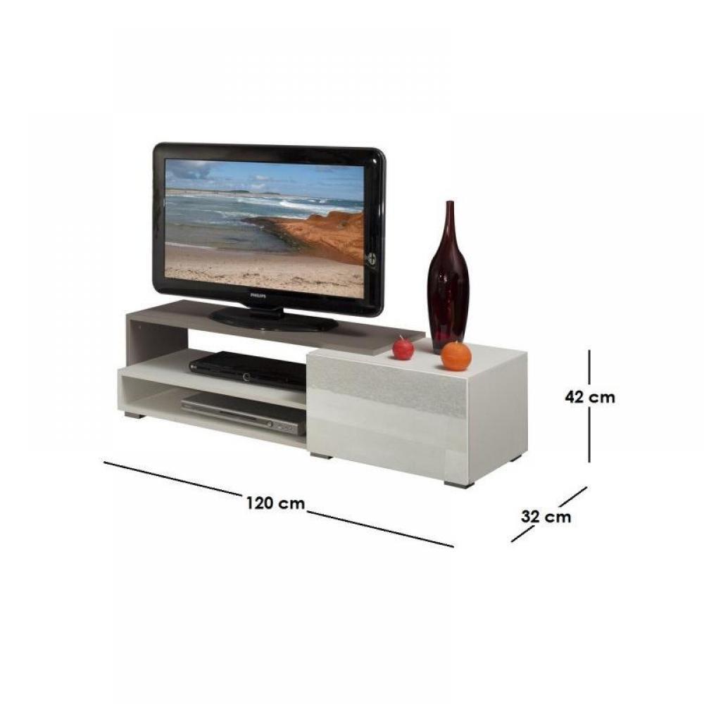 Meubles tv meubles et rangements pacific meuble tv - Meuble tv laque taupe ...