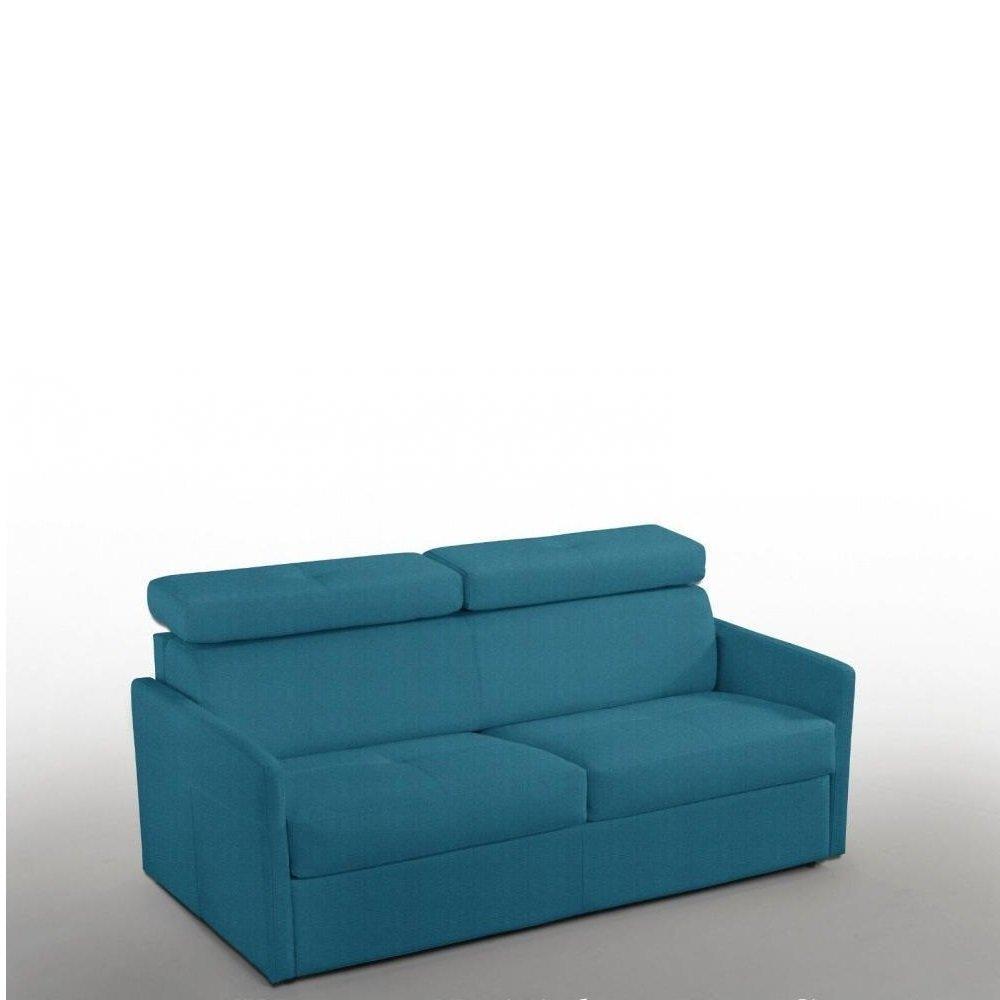 Canapé lit  PARIS COUCHAGE OUVERTURE RAPIDO 140cm Tweed bleu