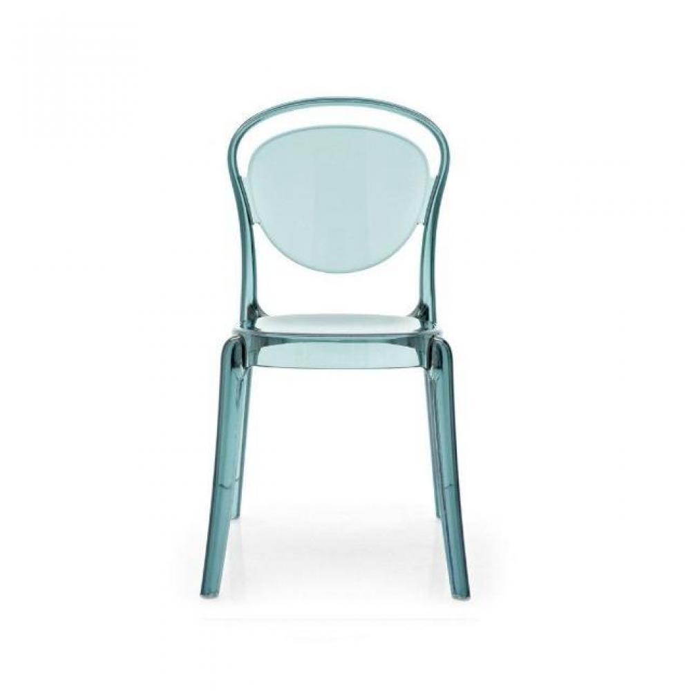 chaises meubles et rangements chaise design calligaris la parisienne polycarbonate turquoise. Black Bedroom Furniture Sets. Home Design Ideas