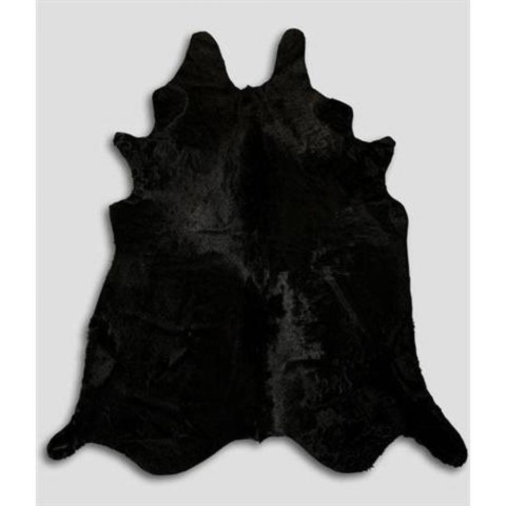 Tapis en peau de vache noire