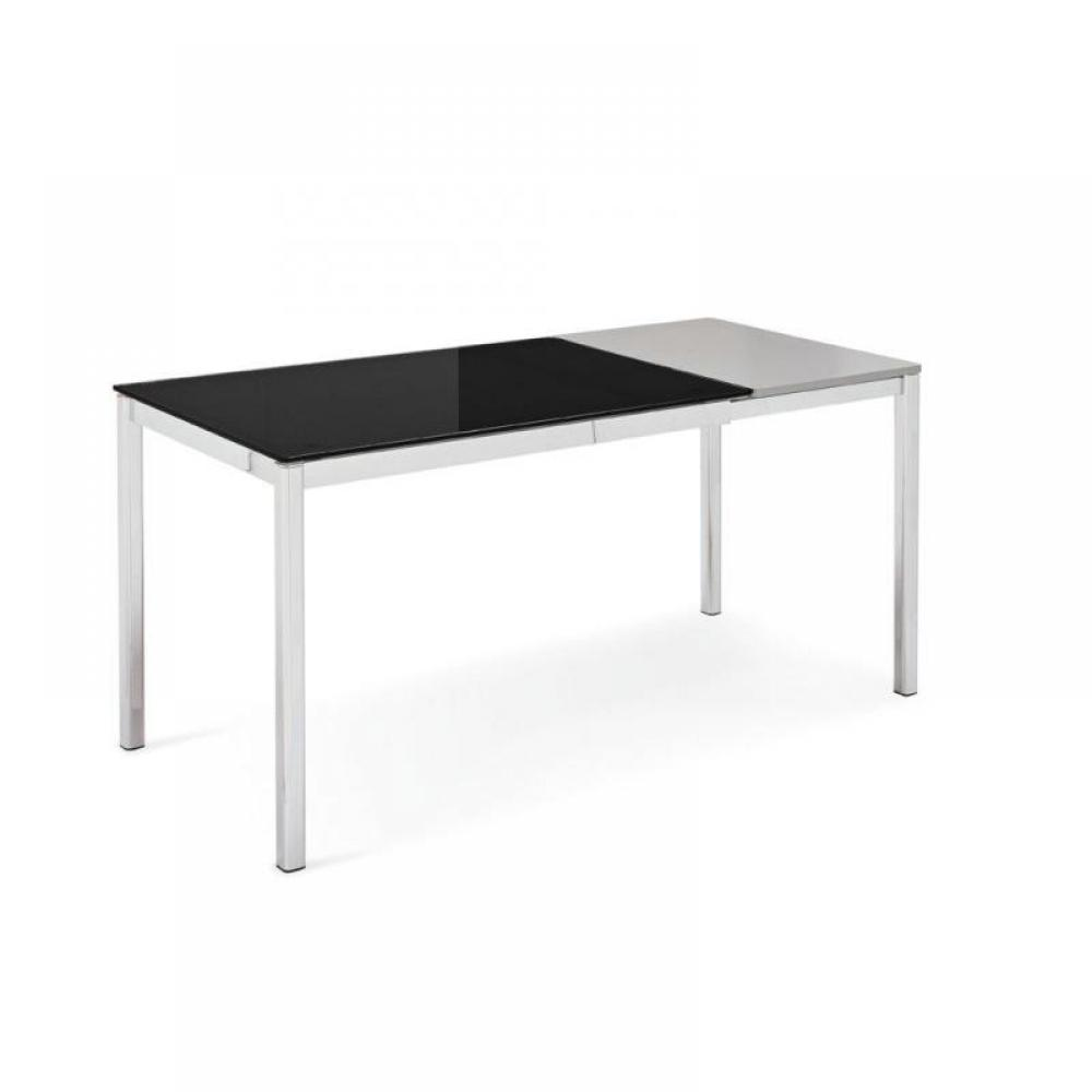Table de repas design au meilleur prix table calligaris for Table verre noir extensible