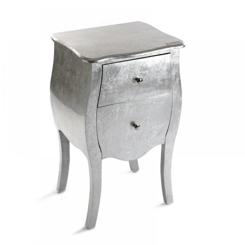 commodes meubles et rangements satellite petite commode 2 tiroirs argent inside75. Black Bedroom Furniture Sets. Home Design Ideas