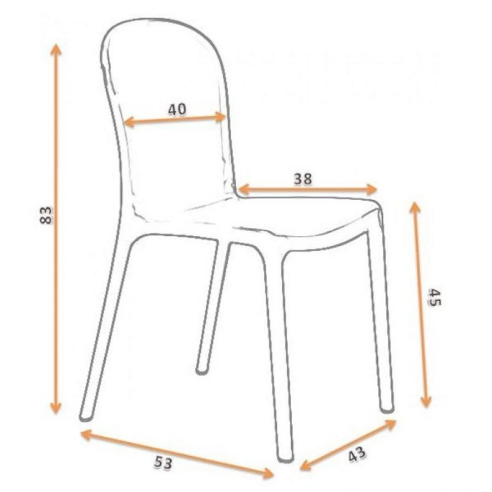 chaises meubles et rangements chaise desing phantom gris transparent inside75. Black Bedroom Furniture Sets. Home Design Ideas