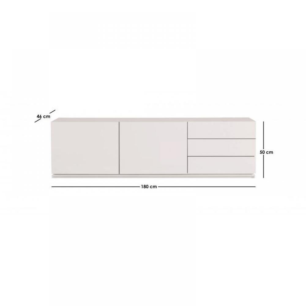 Meubles tv meubles et rangements temahome glare meuble for Meuble tv blanc tiroir