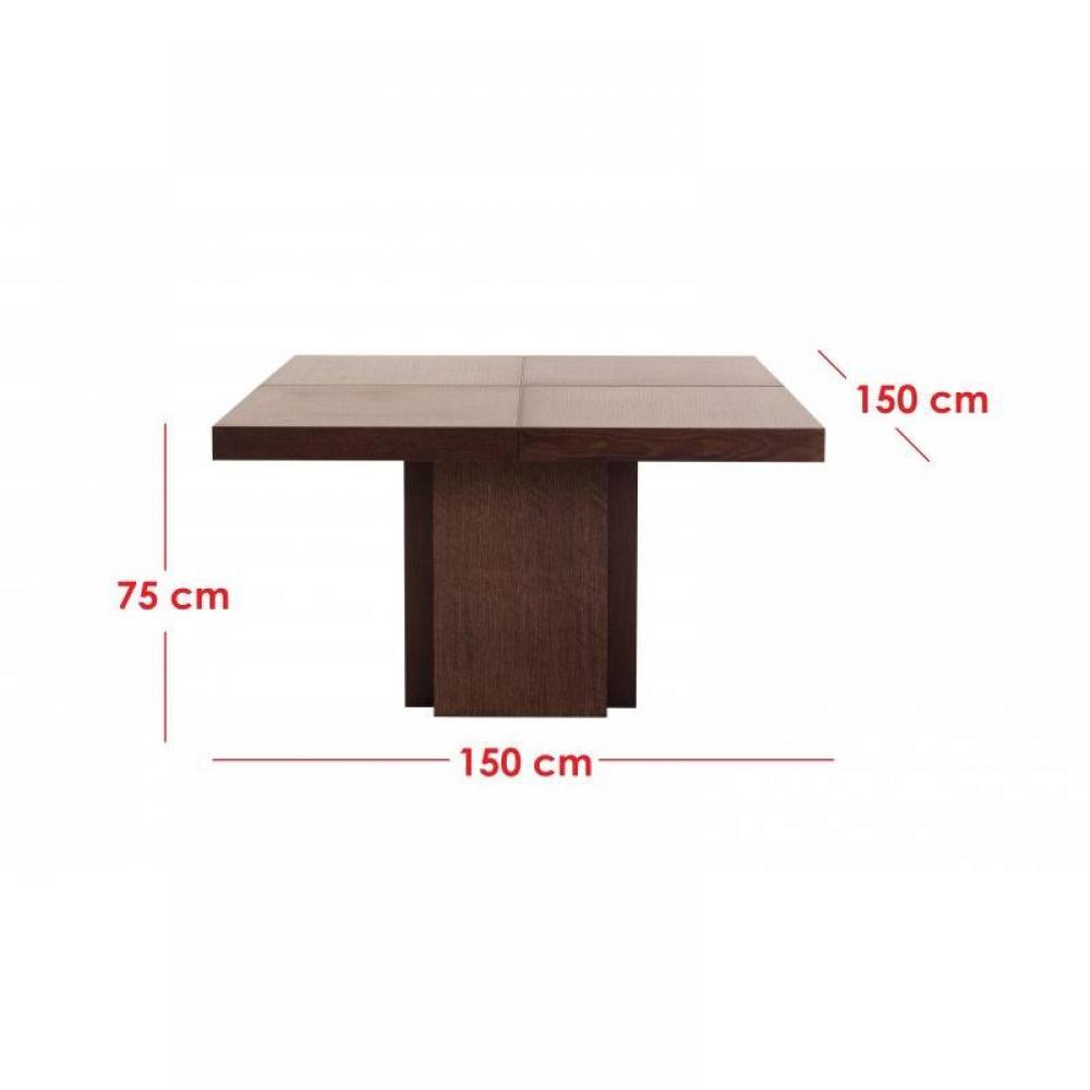 Temahome table repas dusk 130 x 130 cm en bois teint e - Table repas design ...