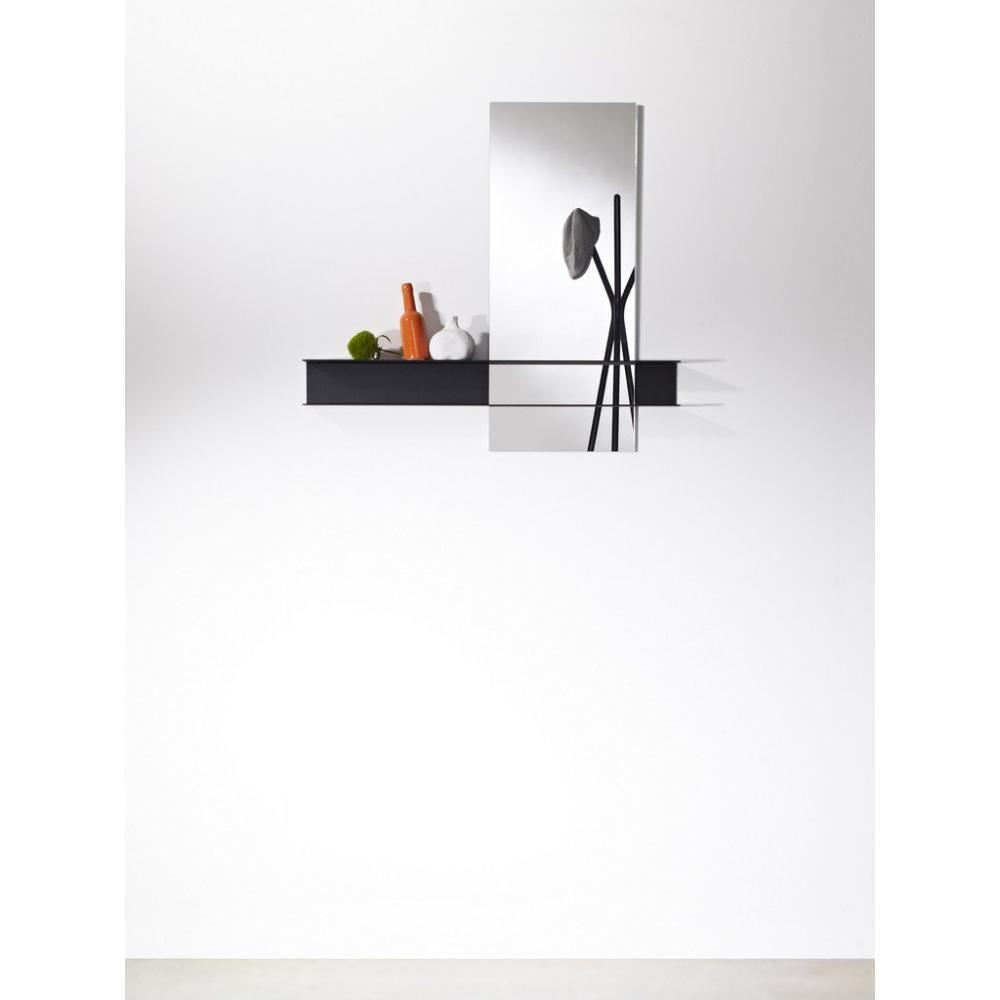 miroirs meubles et rangements poke miroir mural carr en verre avec pied design de couleur. Black Bedroom Furniture Sets. Home Design Ideas