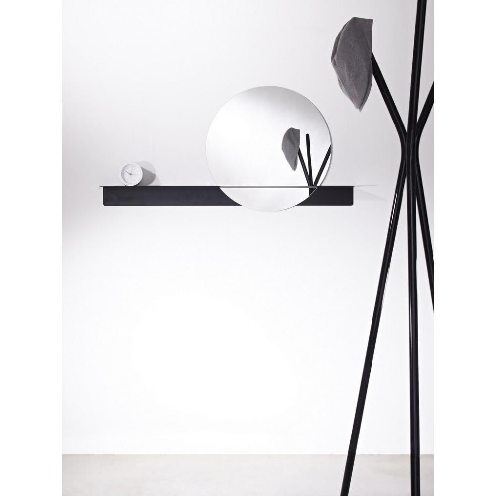 miroirs meubles et rangements poke miroir mural rond en verre avec pied design de couleur. Black Bedroom Furniture Sets. Home Design Ideas