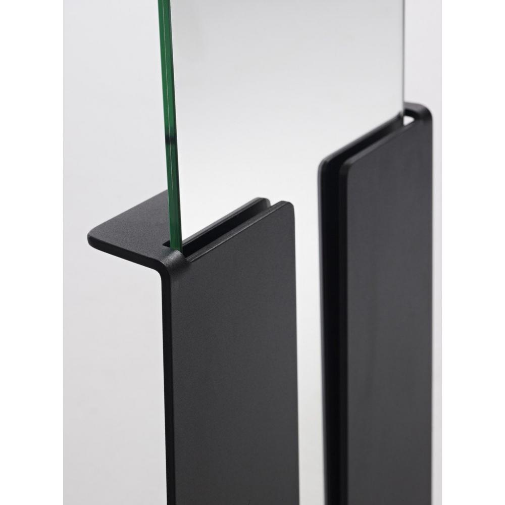 miroir avec pied miroir sur pied rectangulaire avec cadre standing silver by deknudt mirrors. Black Bedroom Furniture Sets. Home Design Ideas