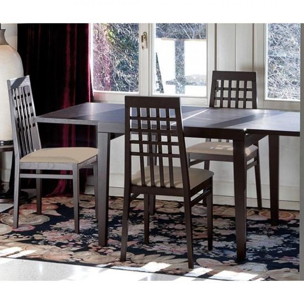 table de repas design au meilleur prix table extensible poker en bois weng 120cm inside75. Black Bedroom Furniture Sets. Home Design Ideas