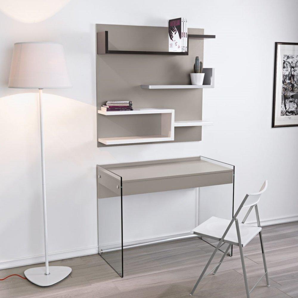 bureau gris taupe conceptions de maison. Black Bedroom Furniture Sets. Home Design Ideas