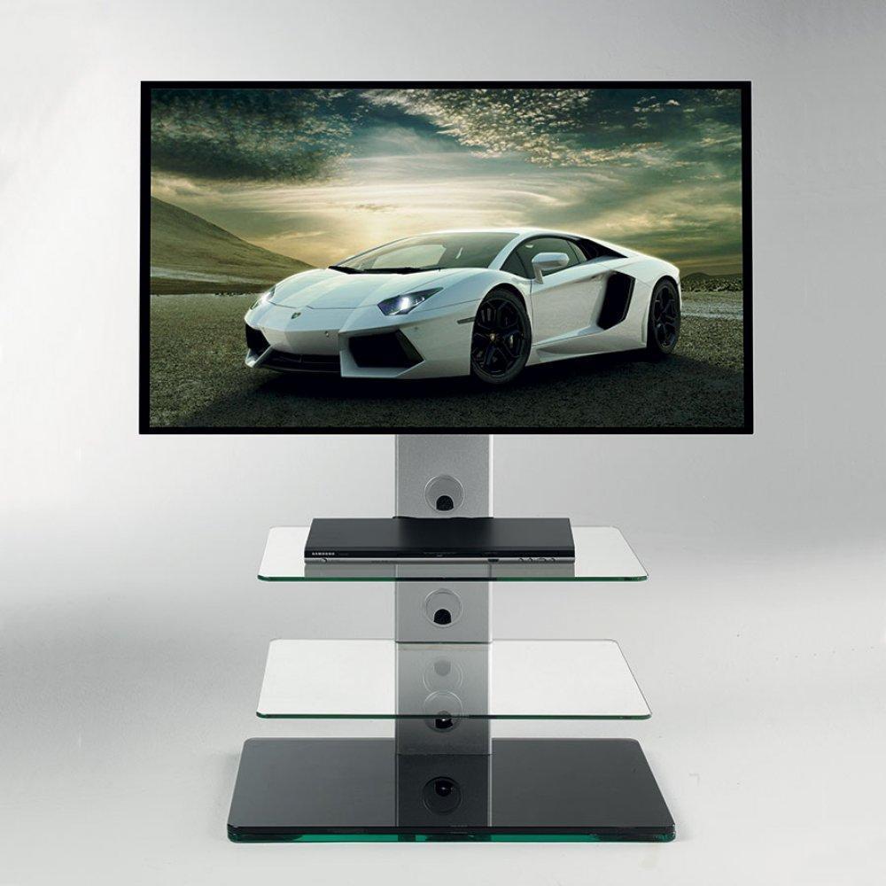 meubles tv meubles et rangements porte tv madrid pivotant en verre inside75. Black Bedroom Furniture Sets. Home Design Ideas