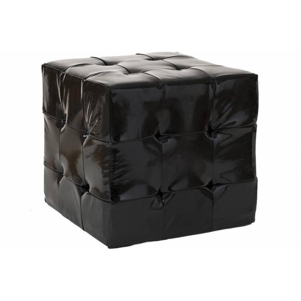Fauteuils poufs design au meilleur prix pouf carr zoe noir inside75 for Pouf carre noir ikea