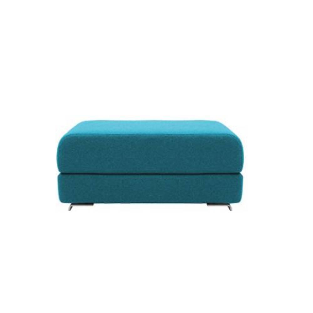 Pouf convertible LOUNGE en tissu laine bleu azur. Pouf convertible LOUNGE en tissu laine bleu azur