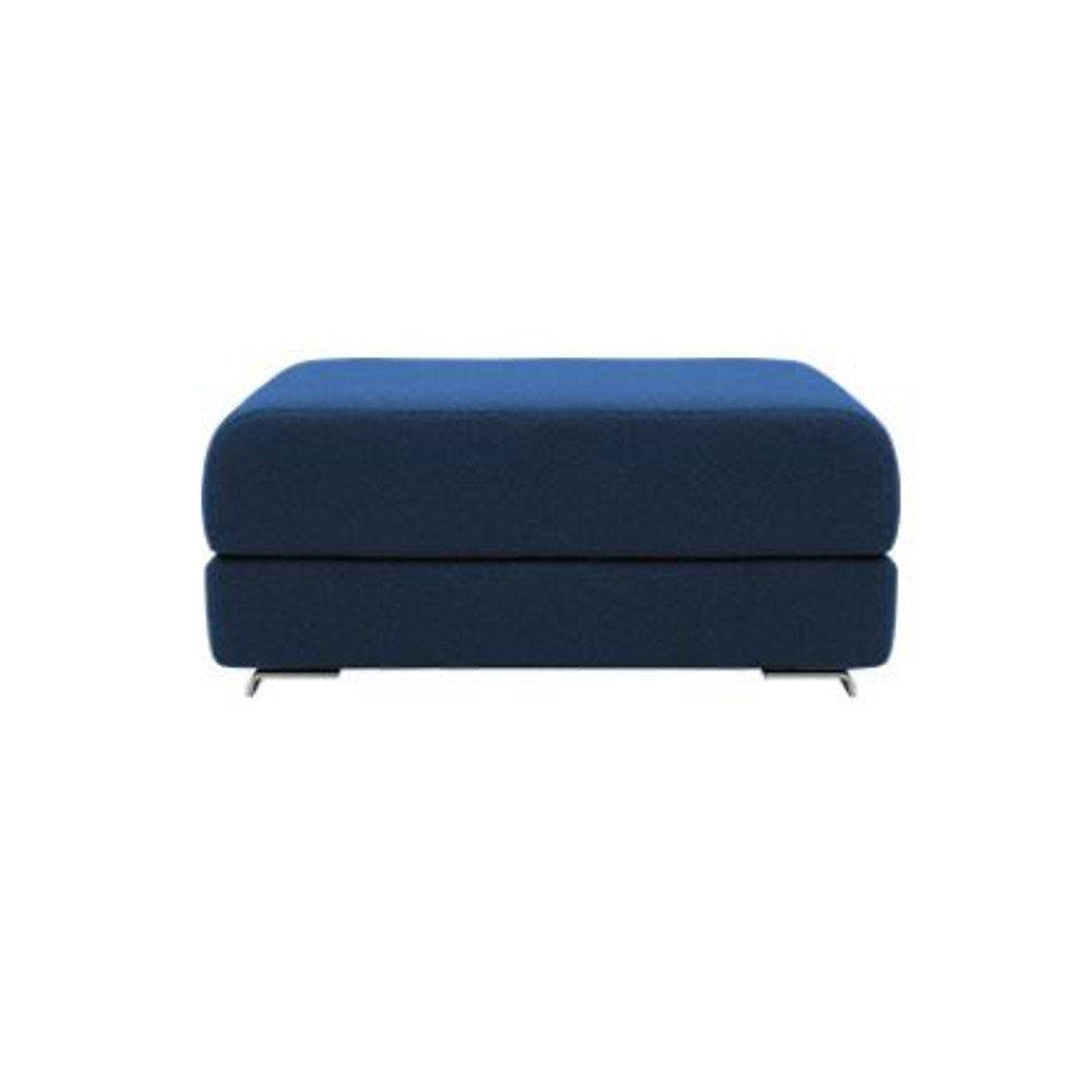 Pouf convertible LOUNGE en tissu laine bleu marine. .