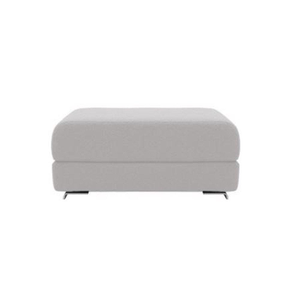 Pouf convertible LOUNGE en tissu laine gris clair. Pouf convertible LOUNGE en tissu laine gris clair