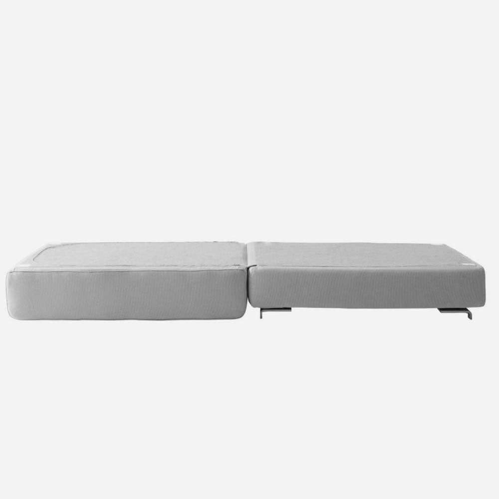 Pouf convertible LOUNGE en tissu laine gris graphite  SOFTLINE