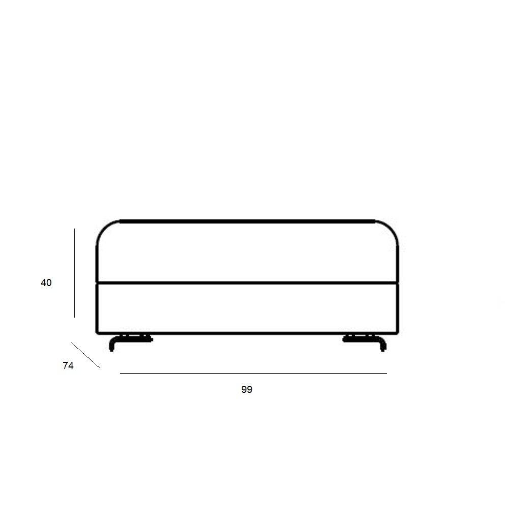 Pouf convertible LOUNGE en tissu laine marron  SOFTLINE