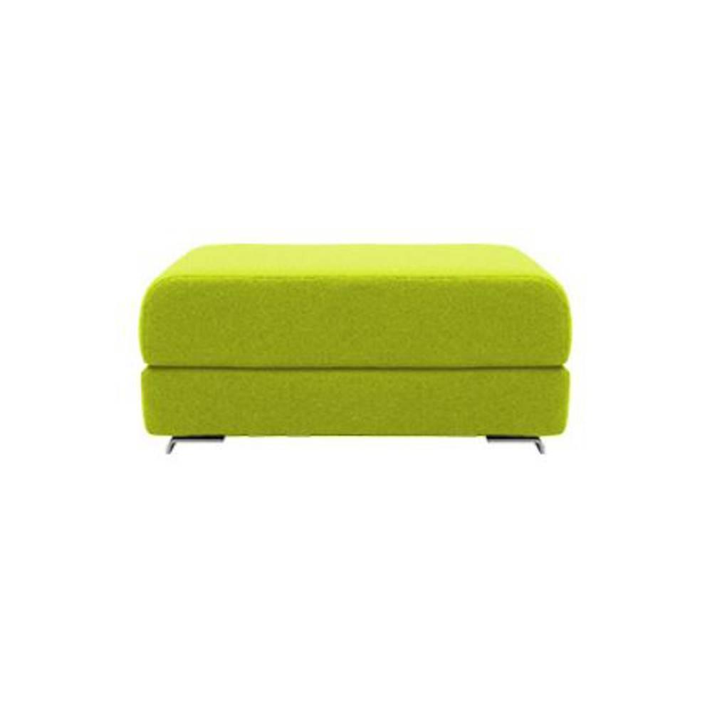 Pouf convertible LOUNGE en tissu laine vert anis. Pouf convertible LOUNGE en tissu laine vert anis