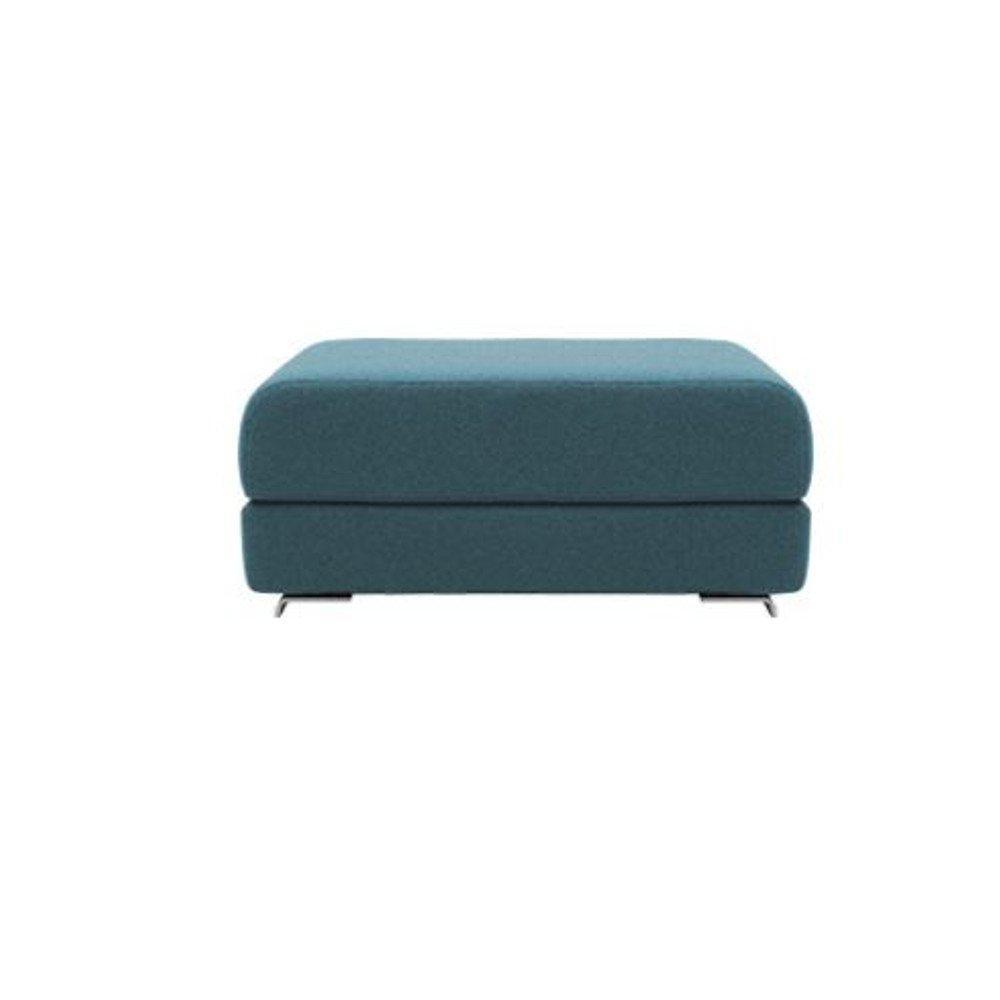 Pouf convertible LOUNGE en tissu bleu canard. Pouf convertible LOUNGE en tissu bleu canard